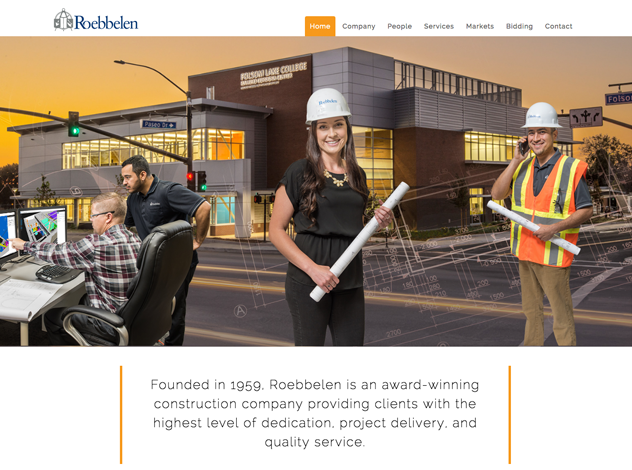 Latest website launch, Roebbelen Contracting Inc.